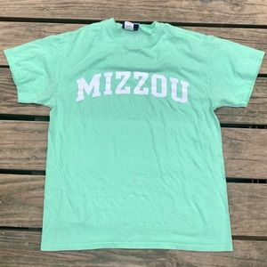 Mizzou Mint Green Crew Neck T-Shirt